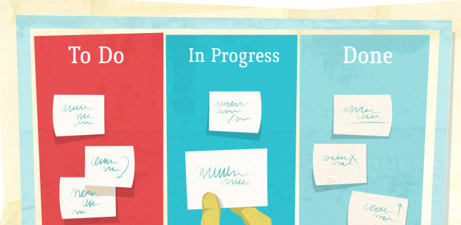 drawing of an agile cardwall